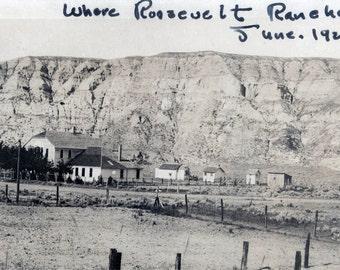 vintage photo 1920 President Roosevelt Ranch BAdlands