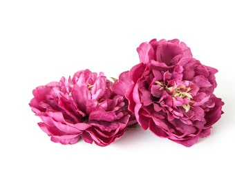 Medium Raspberry Purple Peony -  4.5 Inches - Silk flower - Artificial Flower - ITEM 0736