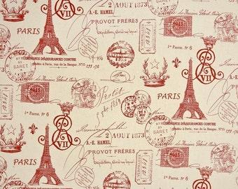French stamp table runner red table runner paris table runner 10 X 70