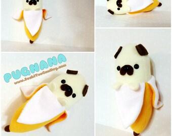 Pugnana Plush - Pug Banana -Made to order