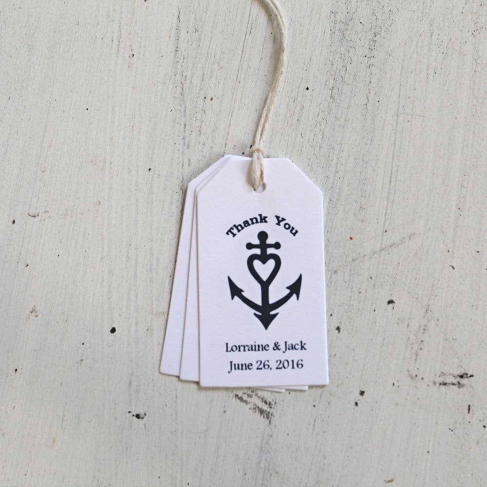 Nautical Wedding Gift Tags : Wedding Favor Tags Nautical Tags Personalized by GreenRidgeDesigns