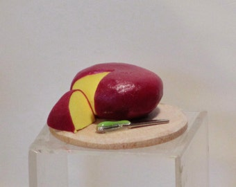 Miniature handmade Cheddar Cheese wheel