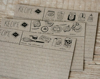 Recipe Cards - Set of 12