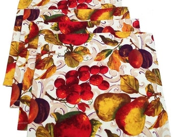 Thanksgiving Napkins, Fall Napkins, Fruit Napkins