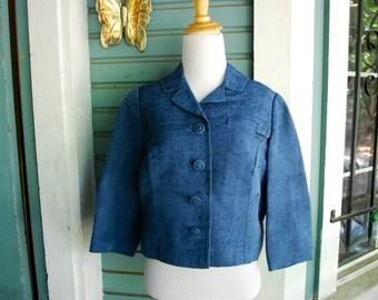ON SALE... Vintage 1950'S/ 1960's Margaret Christie jacket mad men stlye. SIZE S/M