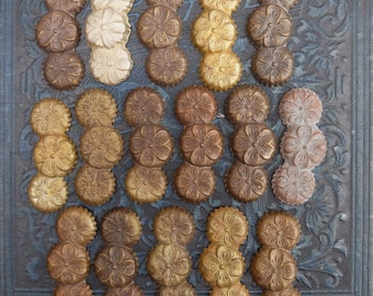 16 Vintage Brass Stamping Finding Supply
