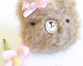 Fuzzy Wuzzy Bear Hair Clip
