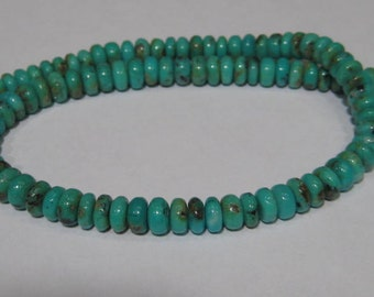 Natural Nacozari Mexican Turquoise  Necklace... Gold Fill .. approx   18 inches ....  e857