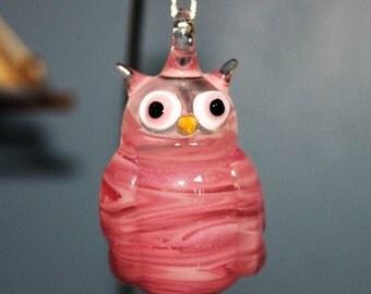 Pink Owl ornament