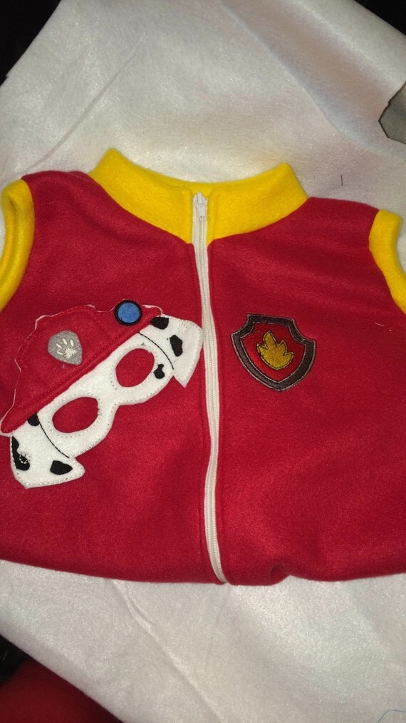 Paw Patrol Marshall Fire Dog Vest Costume By