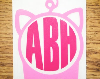 Light Pink & Dark Pink Pig Monogram Vinyl Decal for Yeti Cups, Car, iPads, Computer or Whatever other Surface you can Find!!