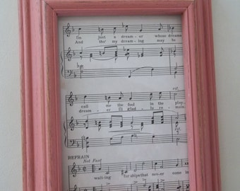 Painted Picture Frame, 5 x 7 Photo Frame,  Annie Sloan Chalk Paint Scandinavian Pink
