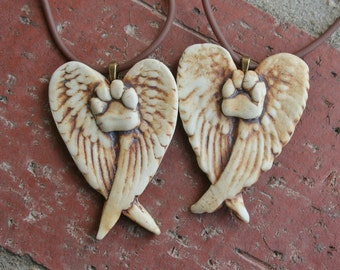 Angel Pawprint Porcelain Pendant