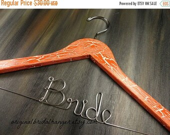 SALE 20% OFF Custom Wedding Hanger Personalized Hanger Custom Hanger Wire Name Hanger Bridal Hanger Bridesmaid Hanger Bride Name Hanger