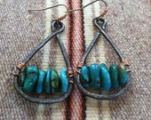 Battle Mountain Turquoise and Copper Earrings