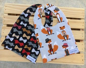 Fox Bibs / Baby Gifts / Baby Shower Gifts / Baby Gifts with Fox