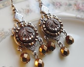 Antique Button Earrings, Cherry Picking
