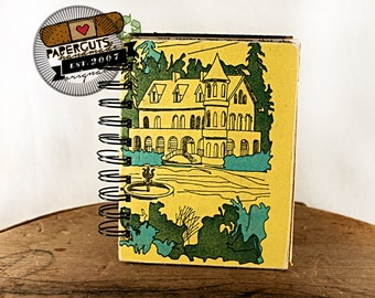Marilyn's Mansion - Wire-Bound Recycled Art Journal