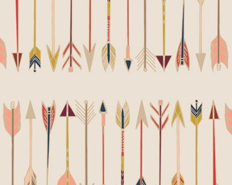 Fletching Chant - Wild and Free - Maureen Cracknell - Art Gallery Fabrics - WFR-147 - Modern Cotton Quilting Fabric - Arrows Western Cowboys