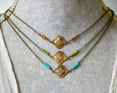 Bohemian choker necklace/art deco necklace/vintage style necklace /boho jewelry. Tiedupmemories