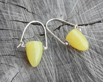 Yellow Bullet Shaped Earrings