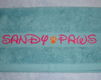SANDY PAWS Washcloth for your Furry Friends - One (1) Washcloth - Ready to Ship