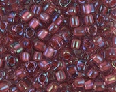 Triangle 5/0 Beads TR-1833 Sparkling Light Cranberry Lined Amethyst AB