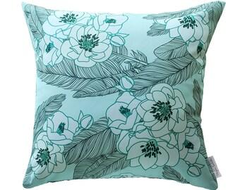 Boho Floral Cushion Cover (Mint)