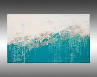 Lithosphere 156 - Large 36x60 Inch Original Abstract Painting, Modern Acrylic Fine Art on Canvas, Large Canvas Wall Art, Contemporary