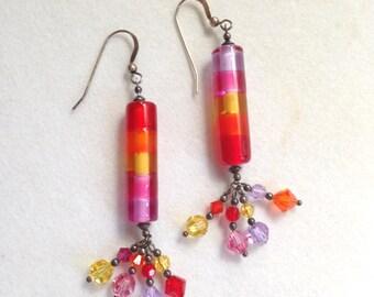 Crystal Earrings Glass Earrings Dangle Earrings Boho Earrings boho jewelry