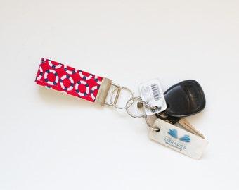 Fabric Key Chain Fob Life Preserver Ring