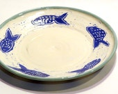 Ceramic Plate with Sea Designs