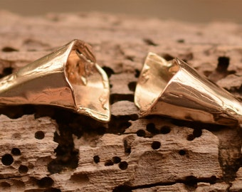 Artisan Cones with a Rustic Edge in Gold Bronze, Two Beading Cones