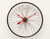 Recycled Bike Wheel Clock