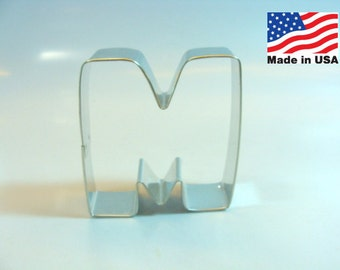 Capital Letter M - 3 inch Cookie Cutter