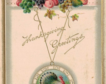 Antique Thankgiving Postcard Early 1900s Thanksgiving Postcard Never Mailed