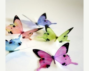NEW YEAR SALE B050 - 12 x 3D Butterflies Suitable for Scrapbooking, Weddings and Decorations