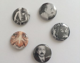 Set of 5 Einstein Buttons