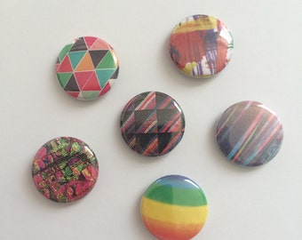 Abstract Rainbow Buttons