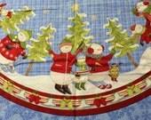 Snowman Christmas Tree skirt panel set of 2 - Debbie Mumm