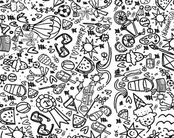 Printable Summertime Coloring Page