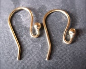 Bread and Butter Bronze French ear wires - simple design