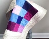 SALE!! Berry Cradle Quilt - Modern Squares