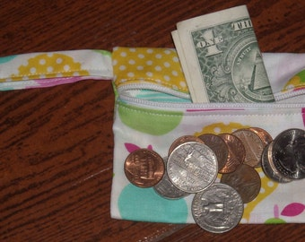Pears coin pouch with swivel hook