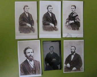 Antique Photographs CDVs Carte de Vistes and Tintype Victorian Men and Woman