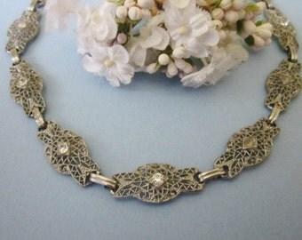 Vintage Deco Rhinestone Necklace