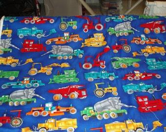 Trucks and Tractors Fabric
