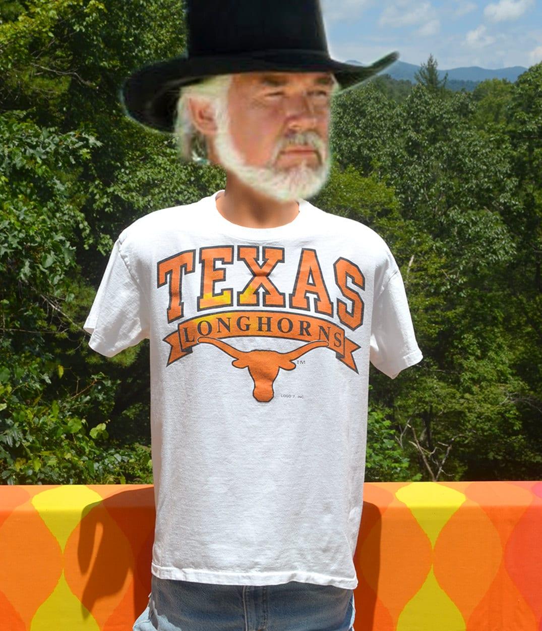 Vintage 80s t shirt university of texas longhorns austin tee for Same day t shirt printing austin
