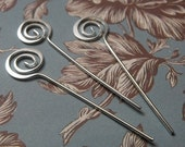 END of Year SALE 6 Pack Silver Fancy 12mm Swirl 1.5 inch Long 19 Gauge Headpins Great Jewelry Supplies