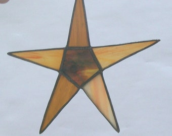 Wishing star country primitive stained glass dancing star suncatcher decoration